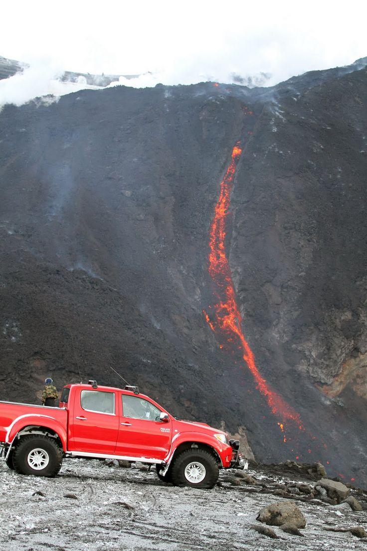 Toyota hilux on iceland s eyjafallaj kull volcano