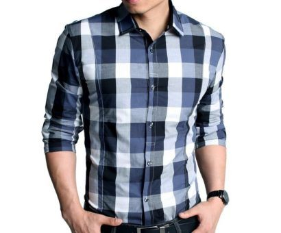 camisas xadrez masculina modelos sociais
