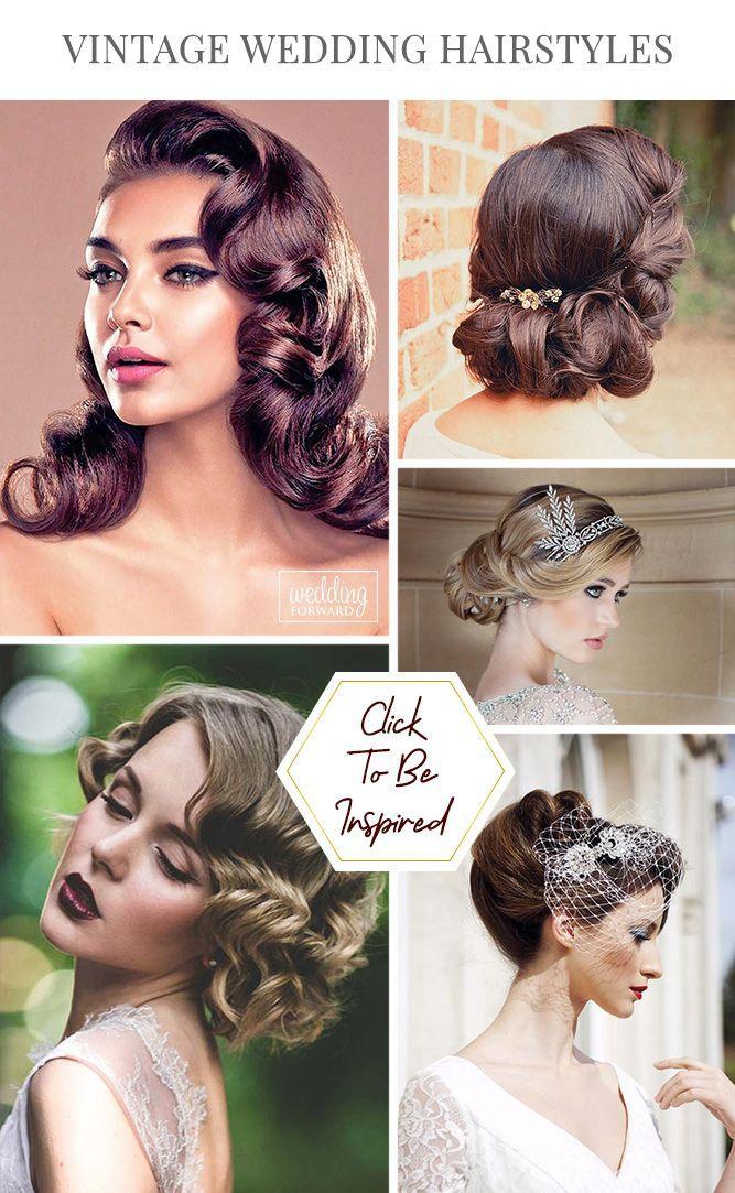 36 Always Feminine Vintage Wedding Hairstyles Wedding Forward Vintage Wedding Hair Wedding Dresses Vintage 20s Hair Styles