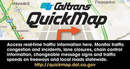 Link to quickmap  www.dot.ca.gov