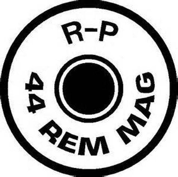 44 Rem Mag Gun Decal/ 44 Rem / Bullet Window Decal/44 Rem