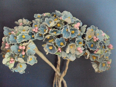 The 169 best millinery flowers images on pinterest fabric flowers millinery tiny flocked flowers mightylinksfo