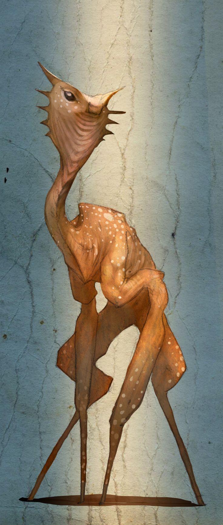 Alien Deer by extracard.deviantart.com on @deviantART
