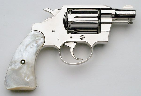 """Colt Detective Special .38 """"DO NOT get oil or cleaners on grips like this! Carefully remove them before cleaning."""""""