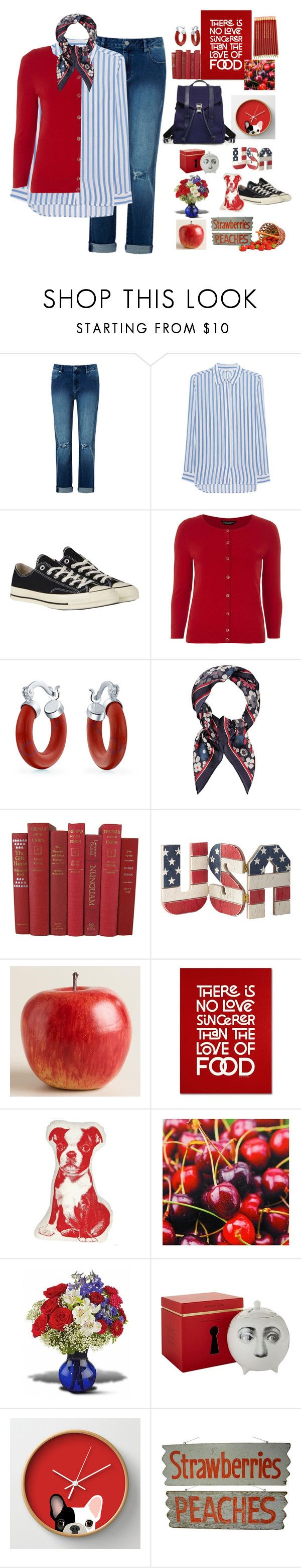 """""""To the Market"""" by nisha-naenae ❤ liked on Polyvore featuring iHeart, Converse, Dorothy Perkins, Bling Jewelry, Accessorize, Cost Plus World Market, Trademark Fine Art, Areaware, Fornasetti and Proenza Schouler"""