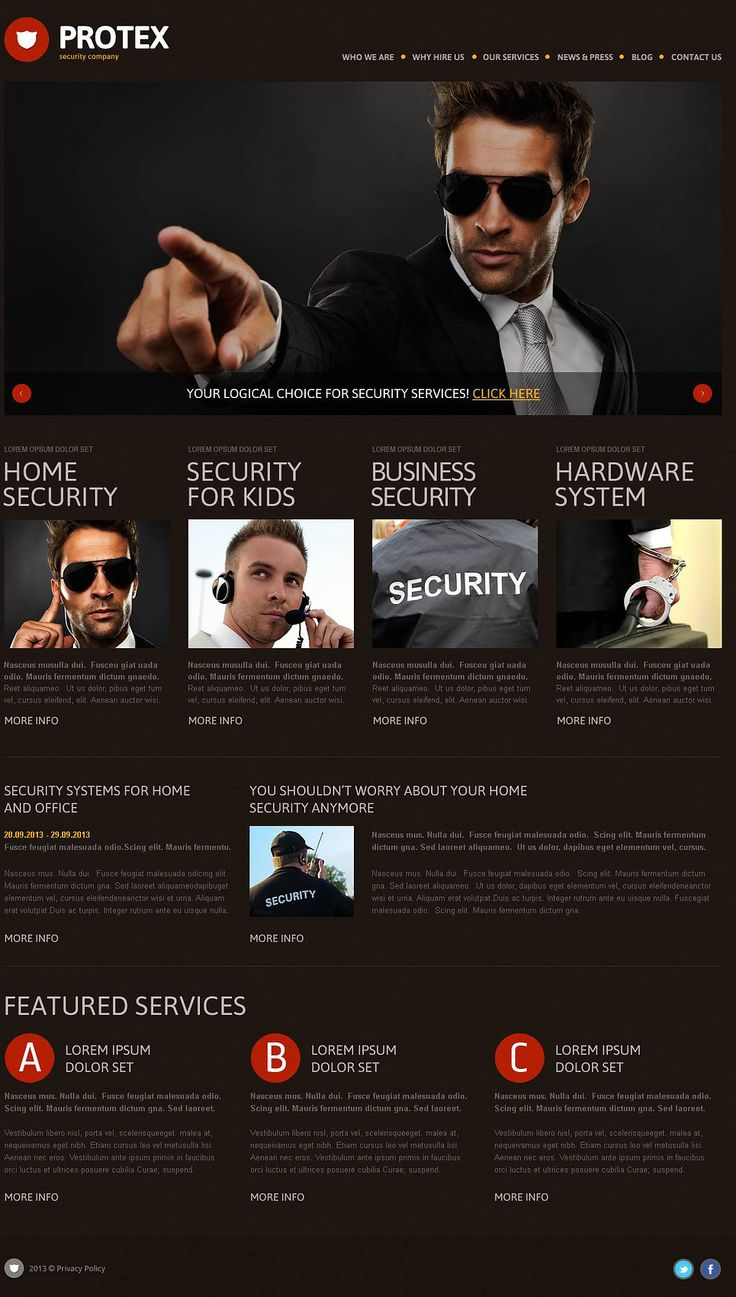 WP Themes for security companies