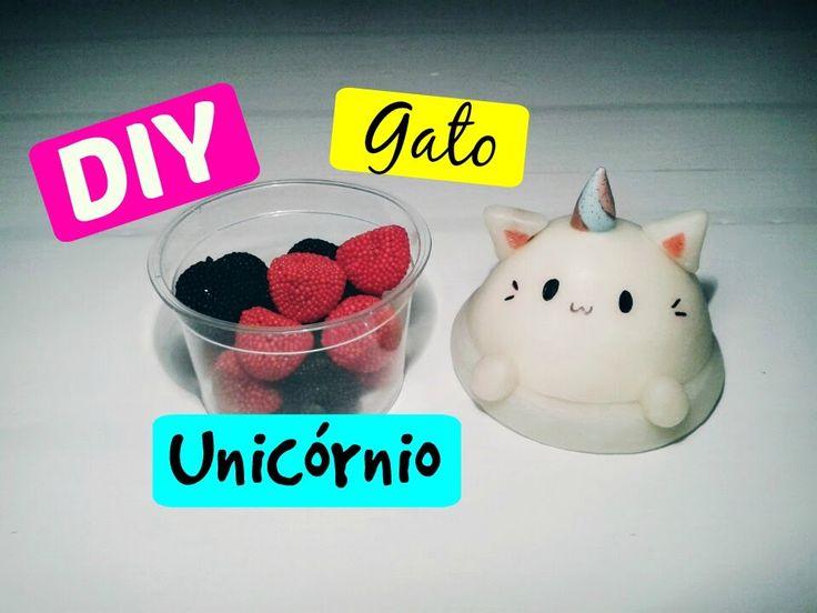 DIY - GATO UNICÓRNIO (Comemorando os 100 inscritos)