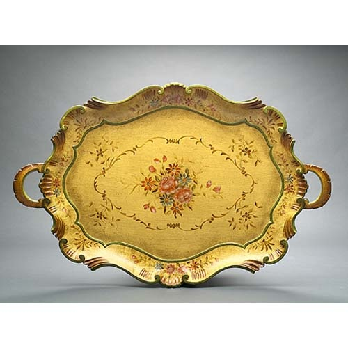 a b home florence de dampierre by ab home antique gray round tray serving traysmarshallsvanity - Decorative Serving Trays