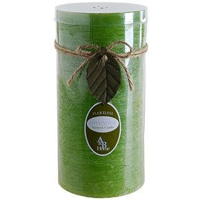 """Green Tea Scented Battery Candle 4""""""""x8"""""""" Green"""