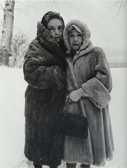 Diane Arbus, Lillian and Dorothy Gish, eleventh-generation Americans and renowned film stars of Orphans of the Storm and Way Down East, Harper's Bazaar, April 1964