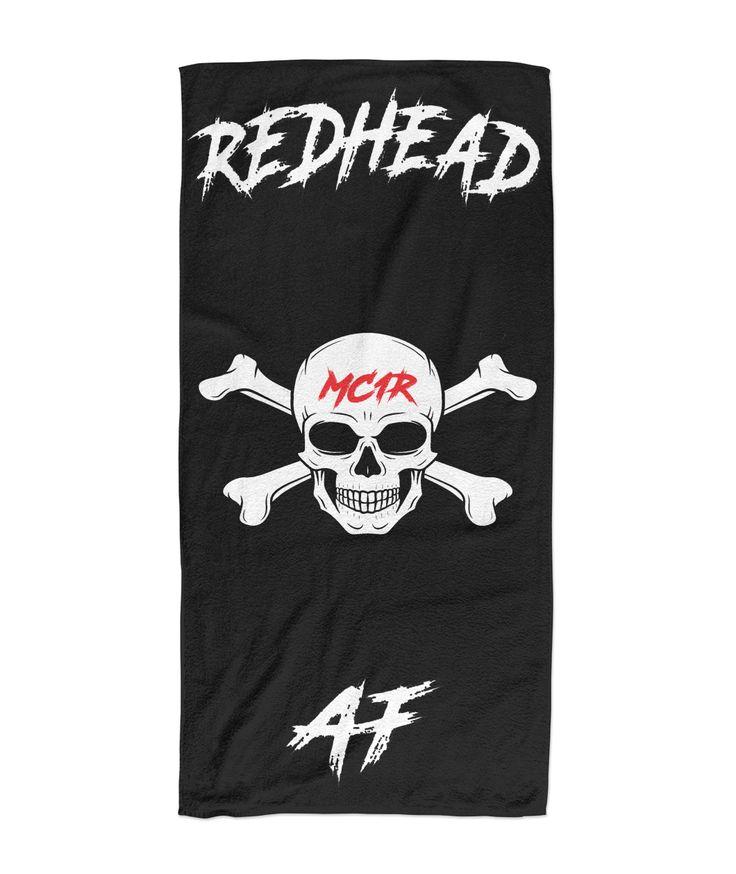 Redhead beach towels