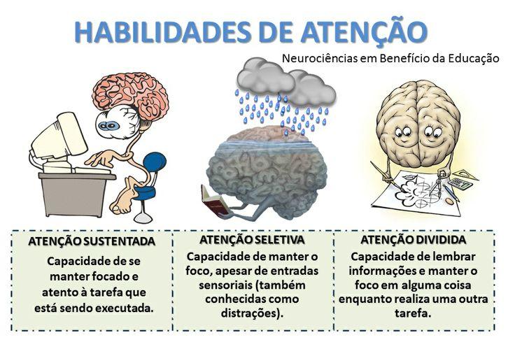 Habilidades de atenção - www.neuropsicopedagogianasaladeaula.blogspot.com.br  - Neurociência/ Neuroaprendizagem/ Neuroeducação/ Neuropsicologia/ Neurologia/ Neuropsicopedagogia/ Neurobiologia/ Neurofisiologia/ Neuróbica/ Psicologia/ Educação/ Desenvolvimento Pessoal