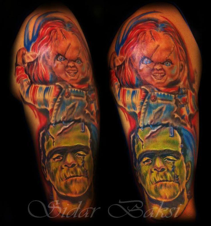#chucky and #Frankenstein #tattoo