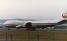 JA8119 at Itami Airport 1984 - the aircraft in involved in the JAL123 accident in August 1985