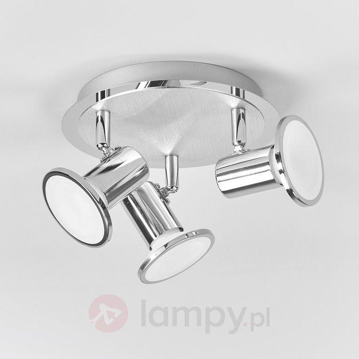 Charley – okrągła lampa sufitowa LED, chromowa 9945173