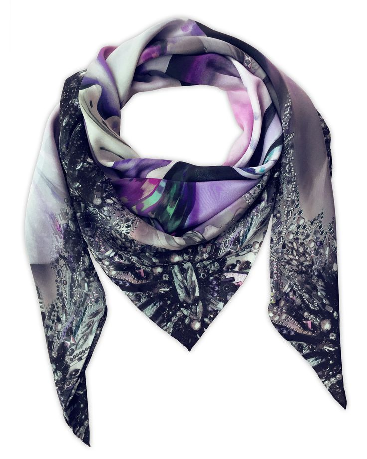 Shop the 'Florence' Luxury Oversized Long Scarf online. All Leanne Claxton scarves are taken from a series of oil painted canvases by the artist, which are digitally transformed and printed onto 100% silk. View our Winter 2016 Digital collection, available in a range of colours, styles and sizes, at www.leanneclaxton.com