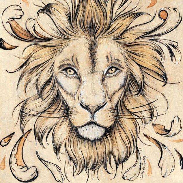 Lion Art Print by Chloe Ruby
