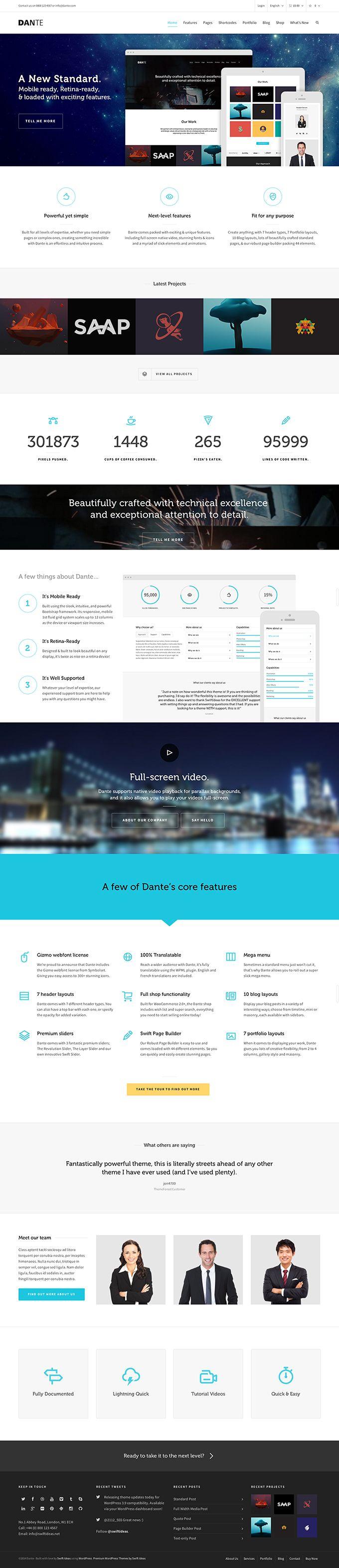 Dante - a multi purpose WordPress theme