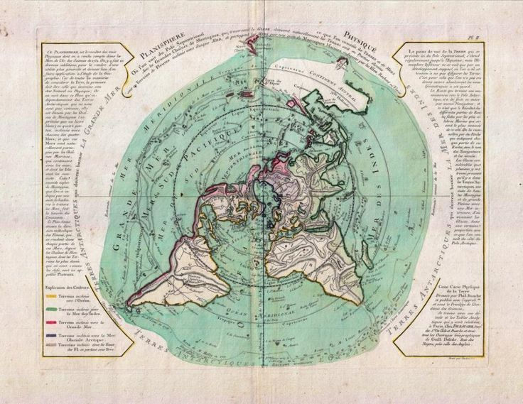 355 best maps fine prints for sale images on pinterest flat buache de neuville map of the world on polar projection circa 1781 flat earth gumiabroncs Images