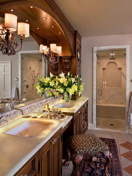 Mediterranean bathroom design home living pinterest - Mediterranean bathroom design ...