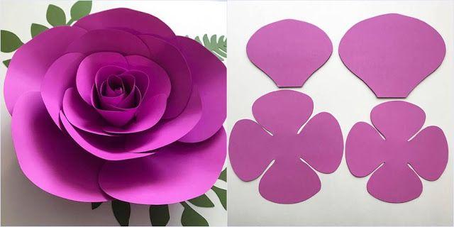 Flores Gigantes De Papel Com Molde Para Imprimir