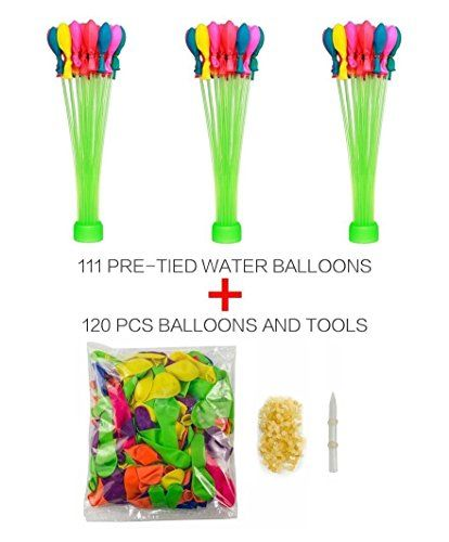 Get armed up for a water balloon #fight FAST with this Magic Water Balloon Maker. In about 60 seconds, you're ready to go with 111 balloons. That's a whole bunch...