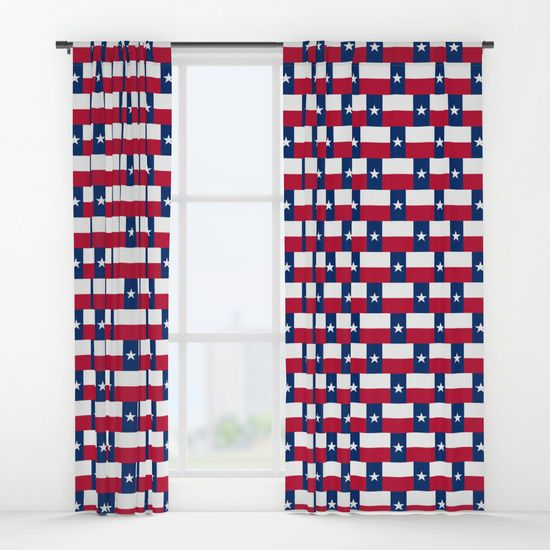 Texas Flag Pattern Window Curtains