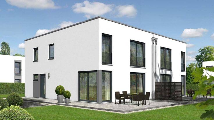 Das Doppelhaus City 136 - Grundriss Erdgeschoss - Ihr Town & Country Massivhaus