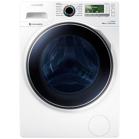 Buy Samsung WD12J8400GW Freestanding Washer Dryer, 12kg Wash/8kg Dry Load, A Energy Rating, 1400rpm Spin, White Online at johnlewis.com