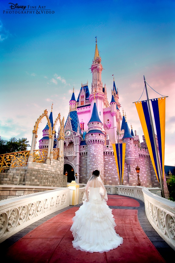 An Anxious Bride Approaching Cinderella Castle At Magic