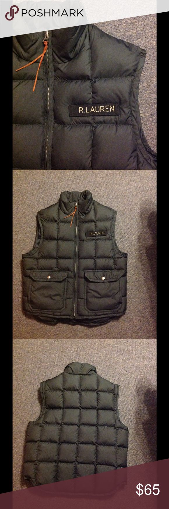 Ralph Lauren Polo Jeans Black Puffer Down Vest M Very nice Ralph Lauren Puffer Down Vest. Black zip up. Down/waterfowl feathers filled. Great condition Ralph Lauren Jackets & Coats Puffers