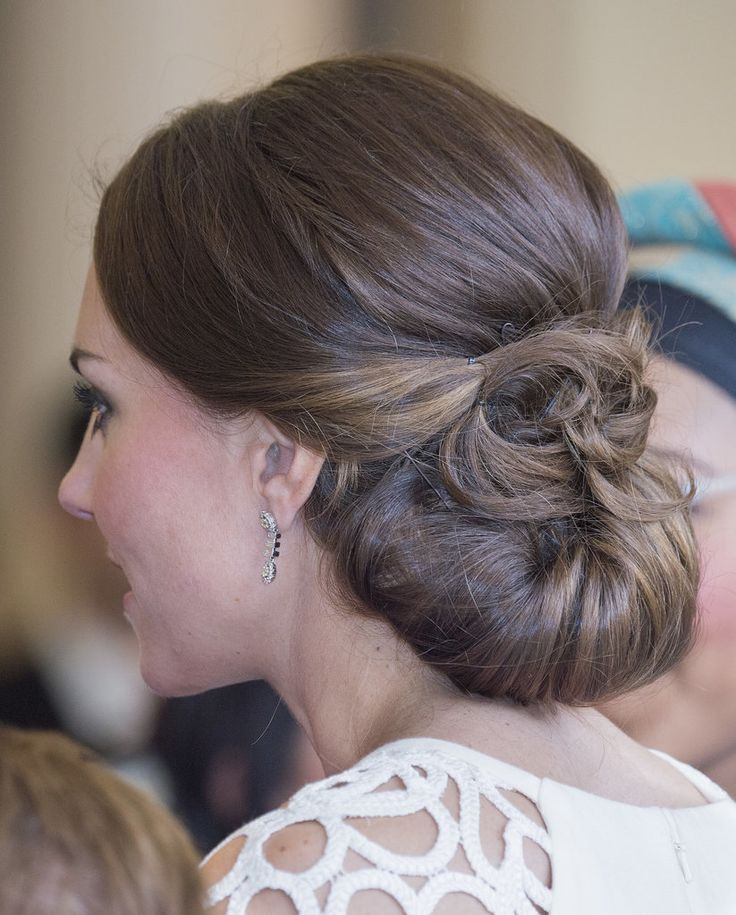 DIY Kate Middleton's Bridal-Worthy Updo From the Royal Tour: When we first spotted this Kate Middleton updo during the recent royal tour, it immediately went on our must-try-at-home list.