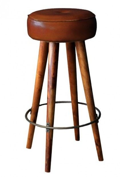 Tapas Bar Leather Stool - Tall - Stools & Bar Stools - Furniture