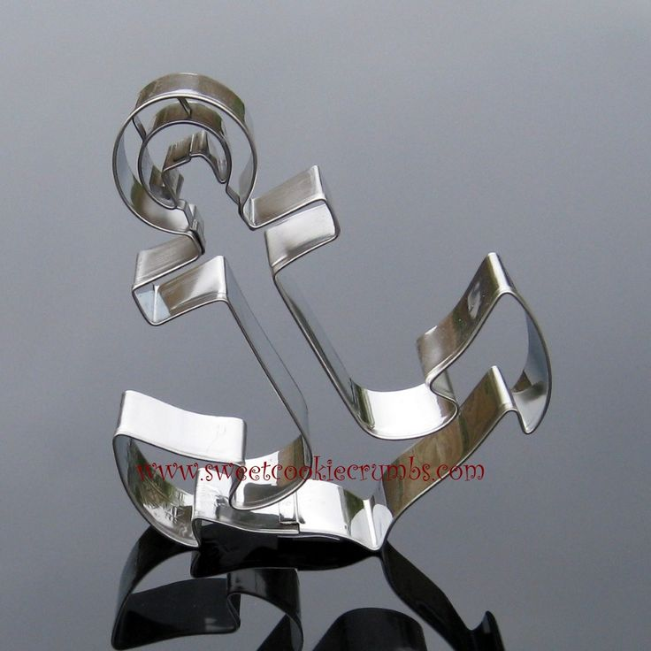 Anchor Cookie Cutter - Stainless Steel