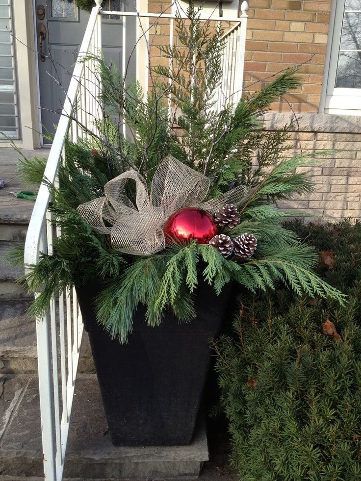 Decorating Urns For Christmas 13 Best Christmas Urns Images On Pinterest  Christmas Deco