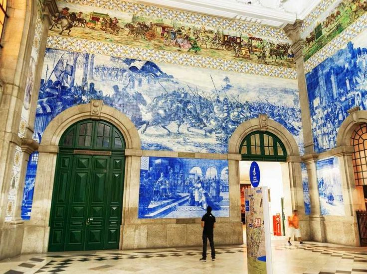 São Bento Station in Porto, Portugal considered one of  10 of the most beautiful train stations around the world by When On Earth / Business Insider - June 2015