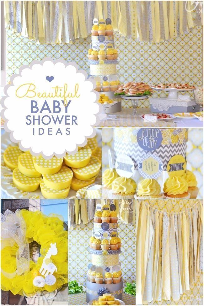 Yellow Grey Bundle Of Joy Boy S Baby Shower Baby Shower