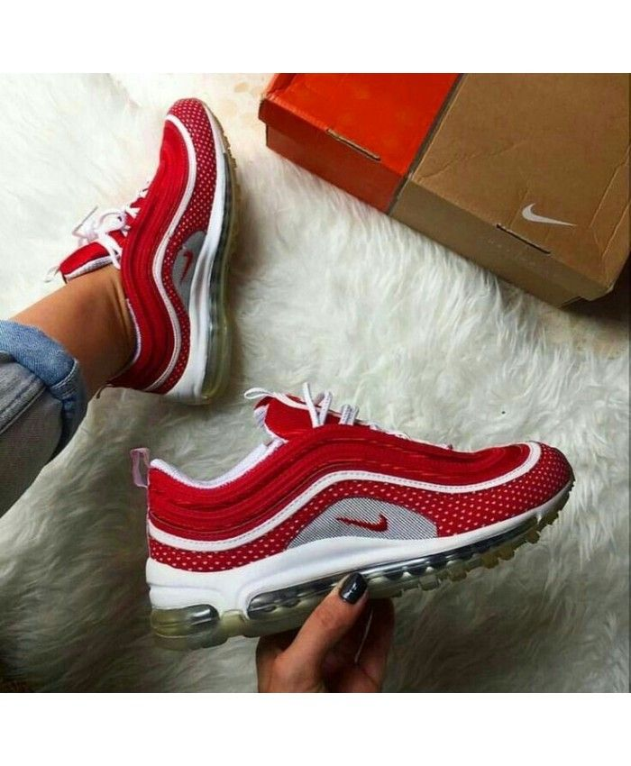 Nike Air Max 97 Red White Trainers  ccc325728