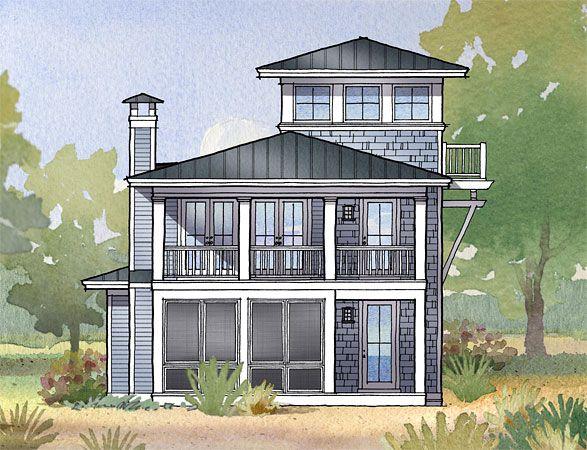 brigantine court beach house plansbeach - Beach Style Home Plans