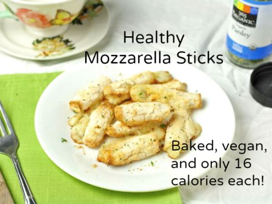 These healthy mozzarella sticks are always met with 5 star reviews.No one needs to know they're vegan, low carb, and only 16 calories each!