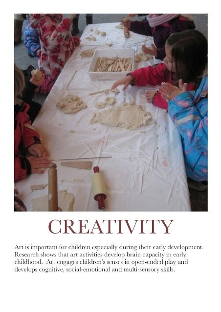 Creativity Poster. For more Play pins visit: http://pinterest.com/kinderooacademy/learning-through-play/ ≈ ≈