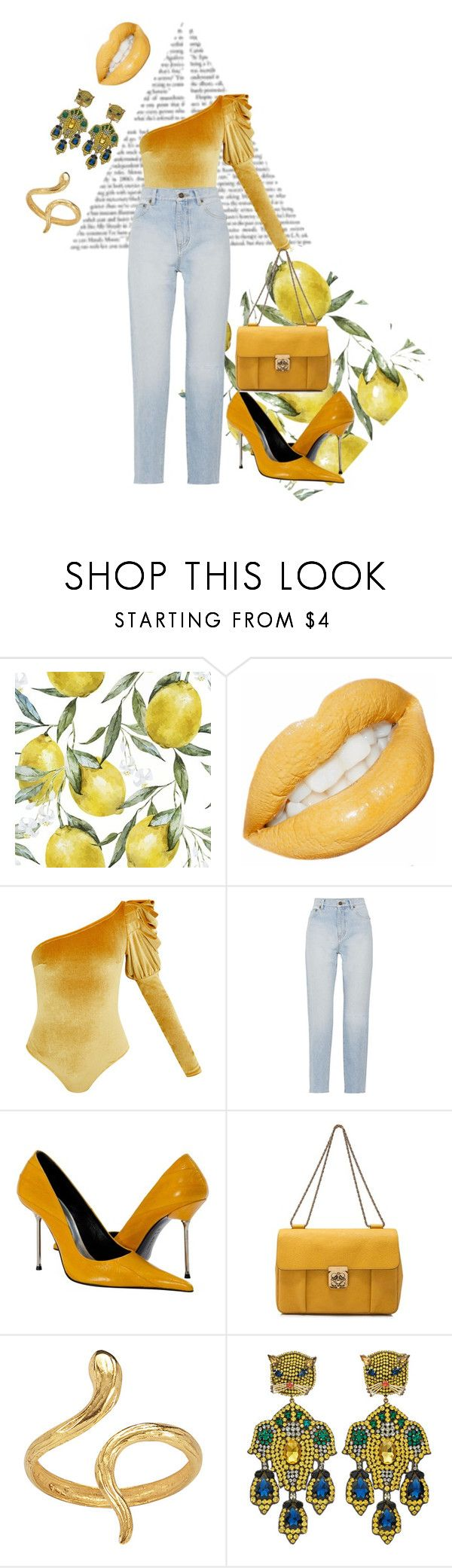 """Untitled #40"" by molly-h-james ❤ liked on Polyvore featuring Yves Saint Laurent, Chloé, Madina Visconti di Modrone and Gucci"