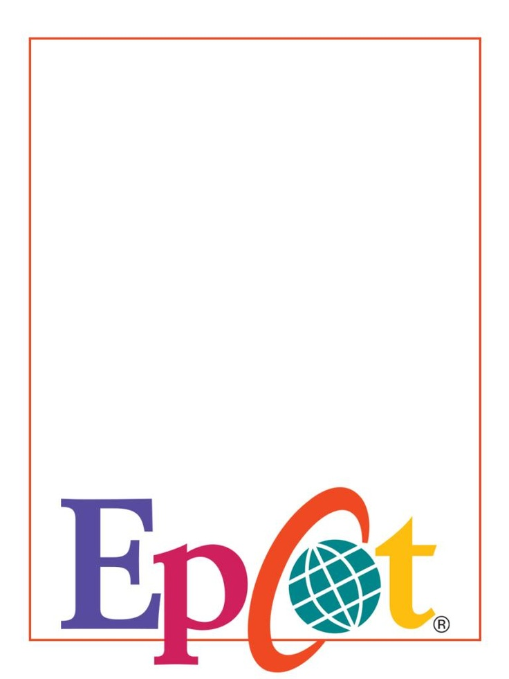 """Epcot  - Project Life Disney Journal Card - Scrapbooking. ~~~~~~~~~ Size: 3x4"""" @ 300 dpi. This card is **Personal use only - NOT for sale/resale** Logos/clipart belong to Disney."""