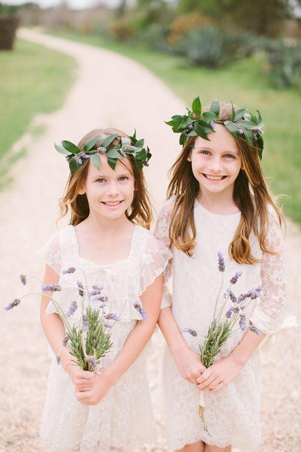bohemian flower girls - photo by JBird Photography http://ruffledblog.com/austin-le-san-michele-wedding