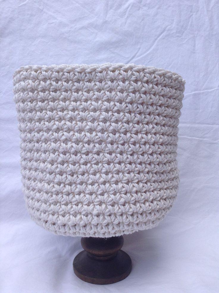 Single stitch crochet basket