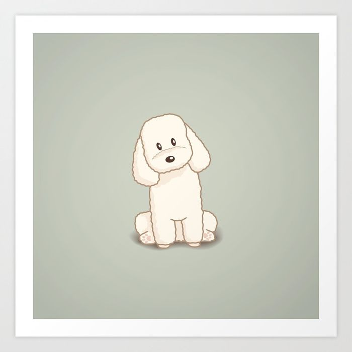 Buy Toy Poodle Dog Illustration Art Print By Gohlikim Worldwide