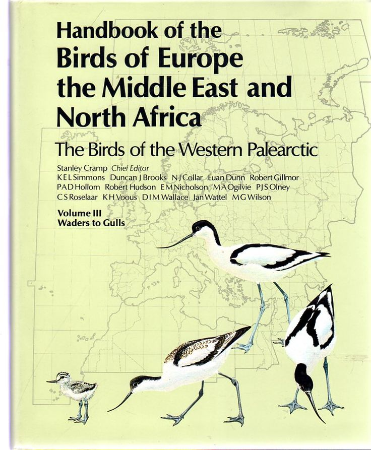 Volume 3 - Handbook of the Birds of Europe, the Middle East, and North Africa : The Birds of the Western Palearctic:Volume III Waders to Gulls.  PRIMA EDIZIONE.