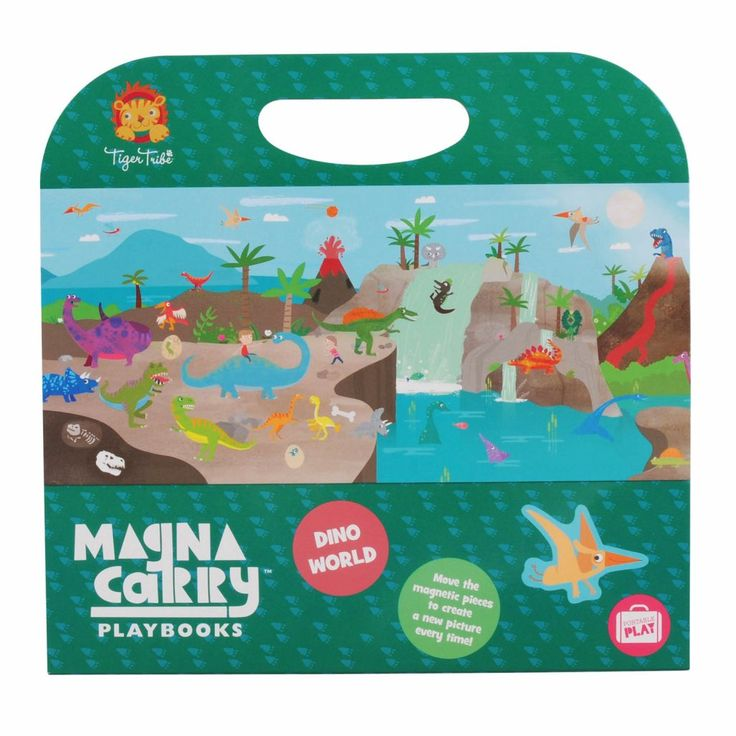 Tiger Tribe Magna Carry Set - Dino World - available online at Little Boo-Teek! Boutique children's online store - for the little kid with BIG personality!  Shop our huge range of award winning kids educational toys by Tiger Tribe!