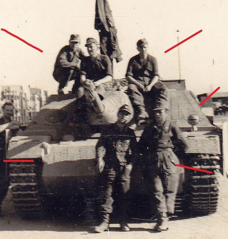 pb196 jagdpanzer iv sd panzerj ger zimmerit sch rzen verladung 1944 top ebay. Black Bedroom Furniture Sets. Home Design Ideas