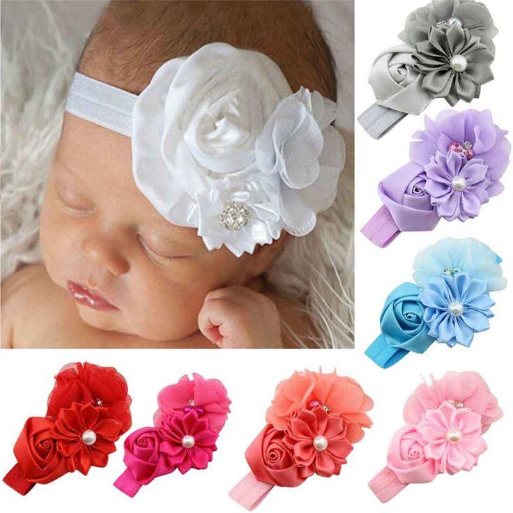 Luck Dog Baby Girl Flower Pearl Flower Hair Band Headband Hairband Hair Accessories BU